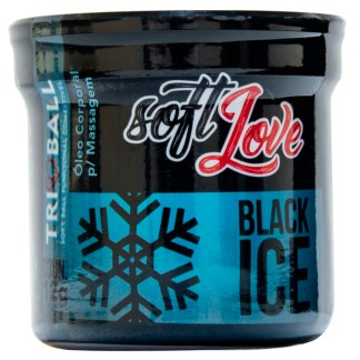 Soft Ball Triball Black Ice efeito refrescante e beijável da marca Soft Love.