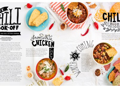 Food Styling a Chili Cook-Off for TABLE Magazine