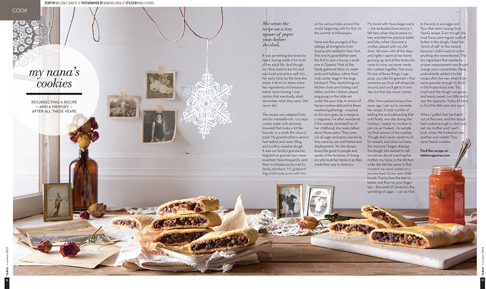 """""""Nana's Cookies"""" Food & Prop Styling for TABLE Magazine // www.Quelcy.com"""