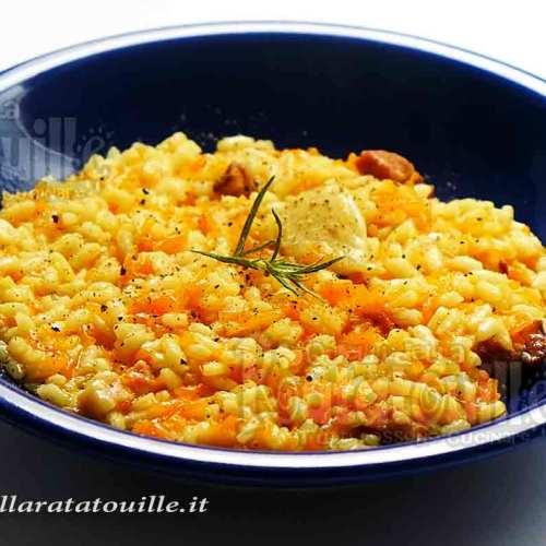 risotto con zucca e pancetta