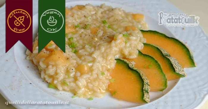 risotto con melone cantalupo
