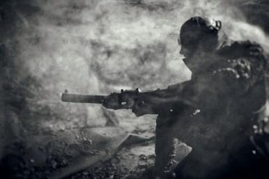 """Photographies de l'exposition """"La guerre des gaz"""" 2016."""
