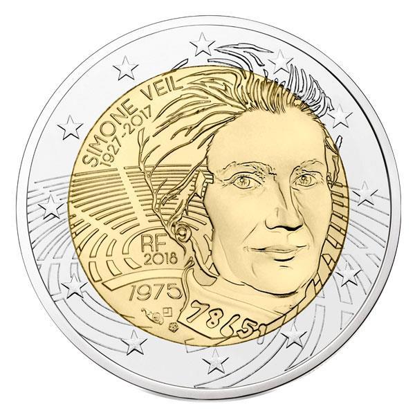 2 euros Simone Veil