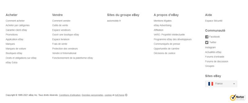 Bouton ebay en français