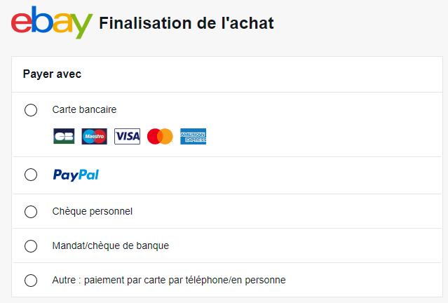 Choisir PayPal Ebay
