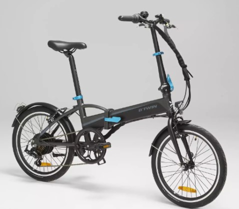 BTWIN Tilt 500 E, vélo électrique pliant de Décathlon vue de profil