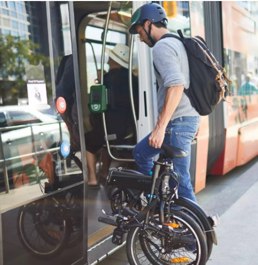 BTWIN Tilt 500E vélo électrique pliant transport