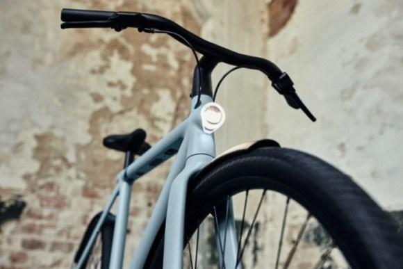 VanMoof S3 vélo électrique connecté zoom contre plongée