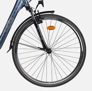roue avant et suspension du E Urban 2