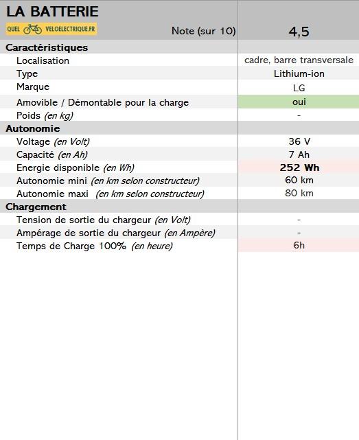 BESV vélo électrique JF1 sportif 3. La Batterie