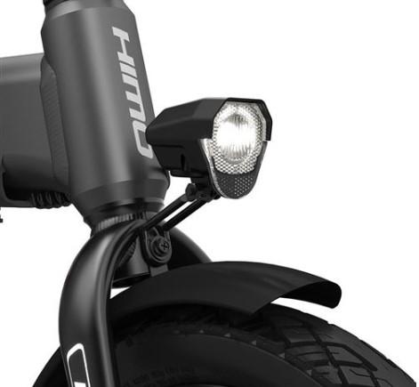 HIMO Z16 vélo pliant zoom feu avant