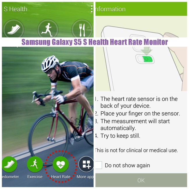Samsung Galaxy S5 Heart Rate Monitor