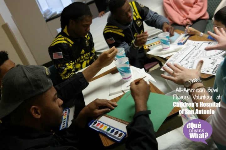 2015 US Army All-American Bowl Players Volunteer at CHofSA QueMeansWhat.com