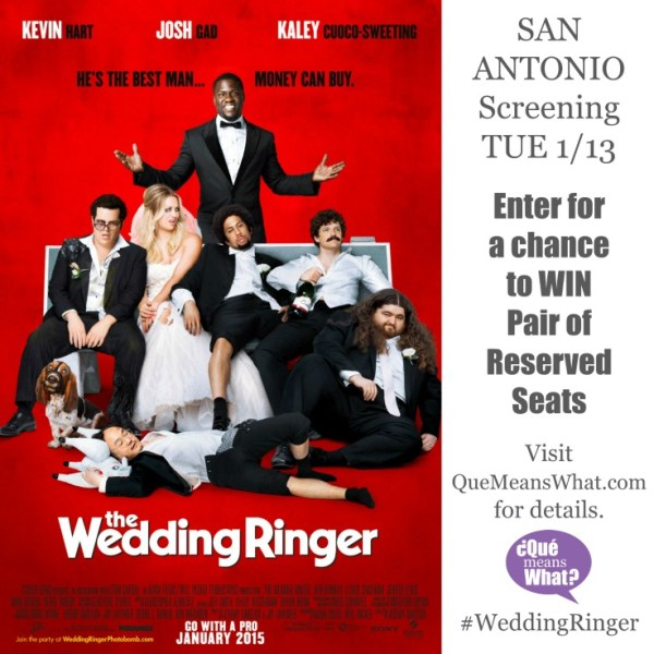 The Wedding Ringer Movie Screening Giveaway on QueMeansWhat.com