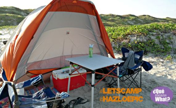 Beach Camping on Mustang Island - #letscamp #hazloepic - QueMeanswhat.com