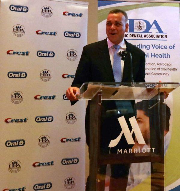 Dr. Lugo Addressing HDA Orgullo Program Reception, San Antonio, TX QueMeansWhat.com