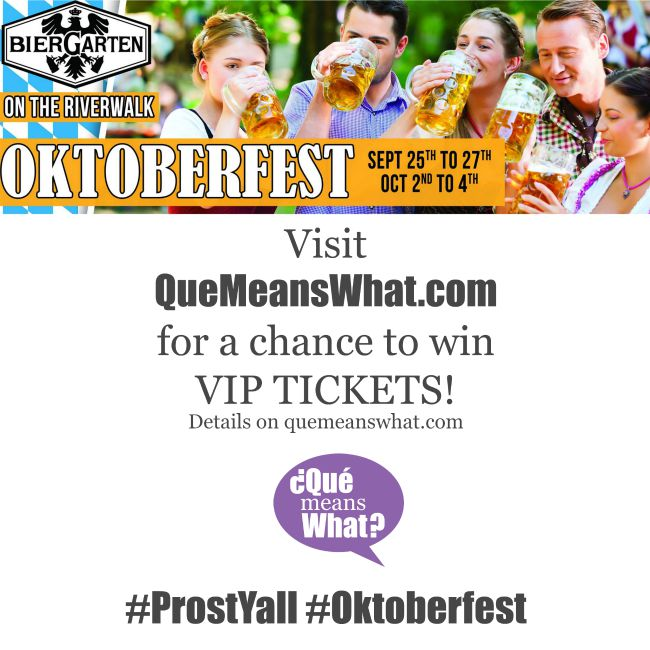 Tickets to Oktoberfest QueMeansWhat.com
