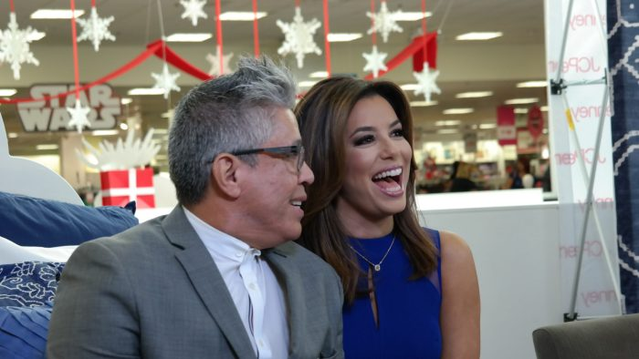 Journalist Michael Quintanilla and Eva Longoria