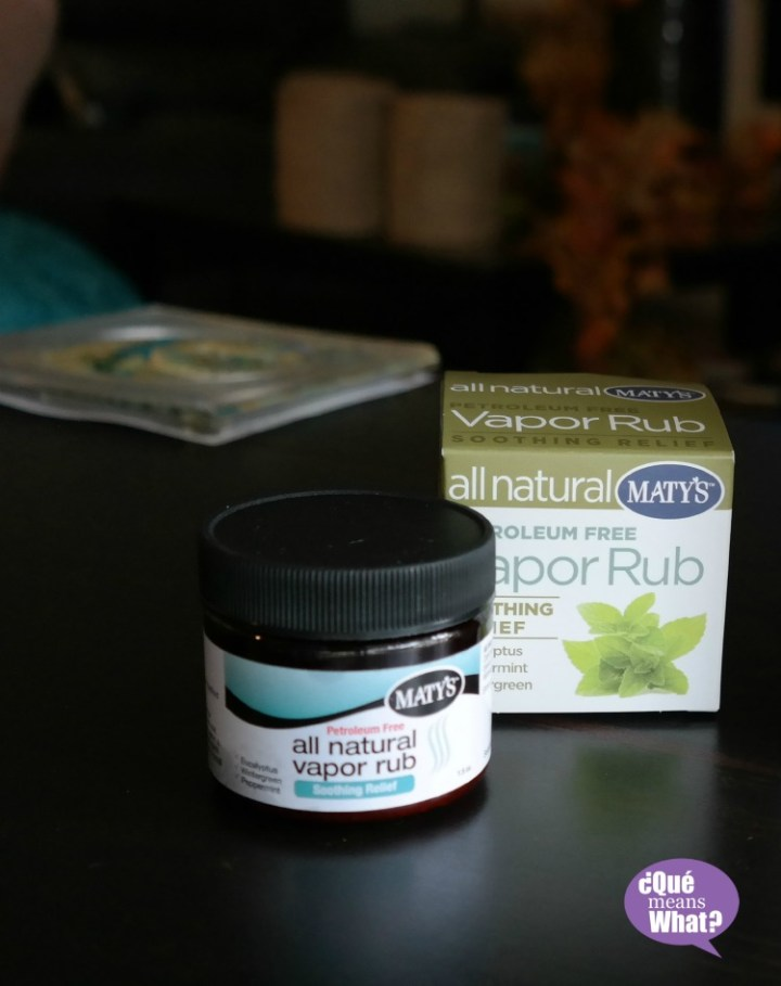 Maty's All Natural Vapor Rub Review on QueMeanswhat.com