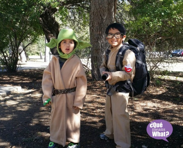 Yoda and Ghostbusters Halloween Costumes