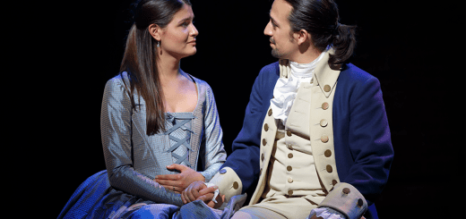 HAMILTON - Phillipa Soo and Lin Manuel Miranda. Courtesy of Joan Marcus