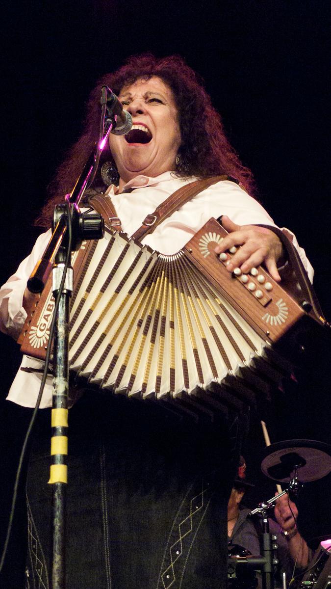 Eva Ybarra at the Tejano Conjunto Festival (Photo courtesy of GCAC)