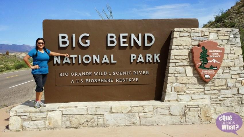 Big Bend National Park Entrance