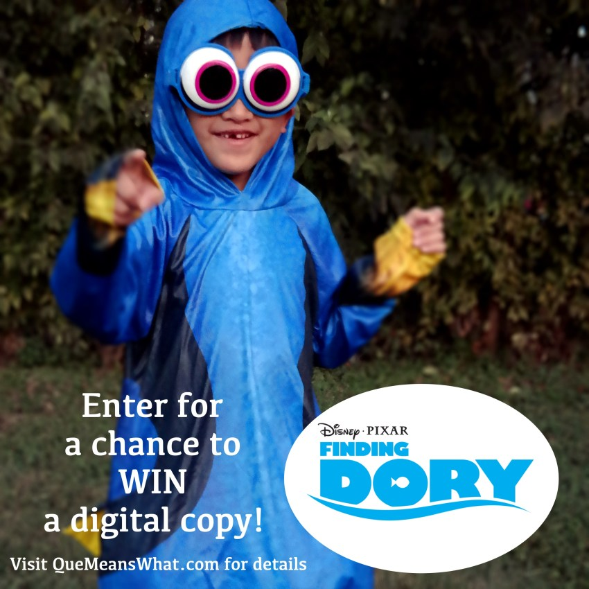 Finding Dory Digital Copy GIVEAWAY - QueMeansWhat.com.