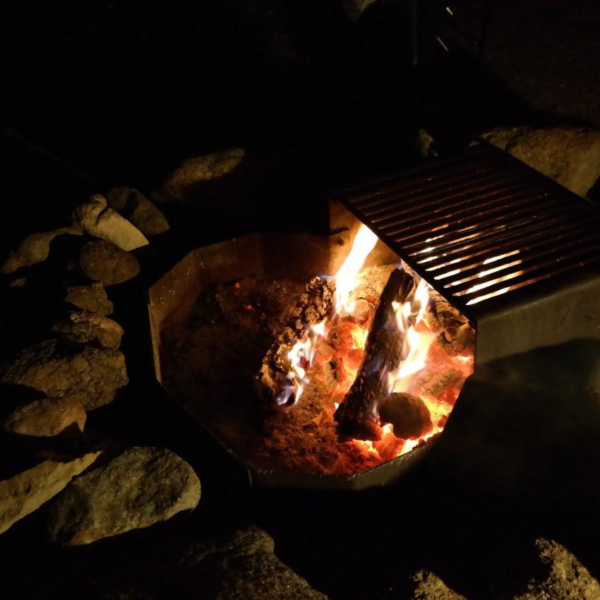 Campfire at KOA in Colorado
