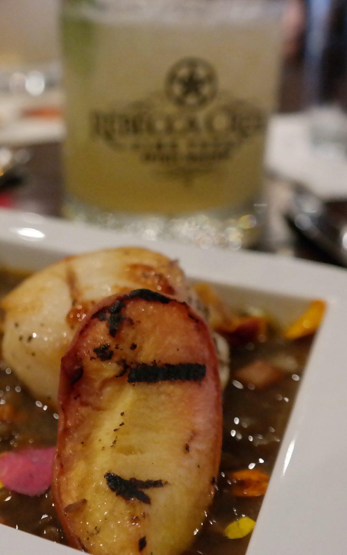 Cedar smoked sea scallops at Sazo's San Antonio Marriott Rivercenter - Quemeanswhat.com