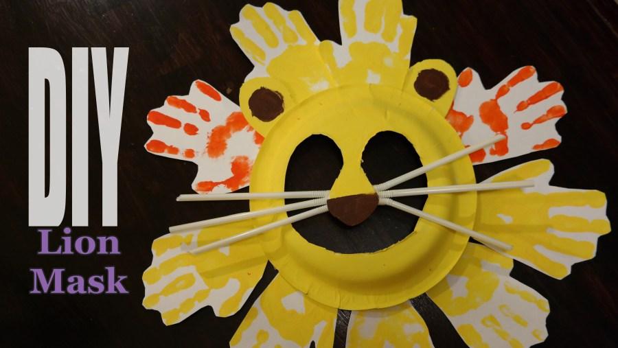 10-Step Lion Mask Kids Craft - QueMeansWhat.com
