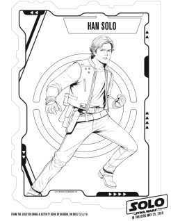 SOLO: A STAR WARS STORY! Coloring and Activity Sheets