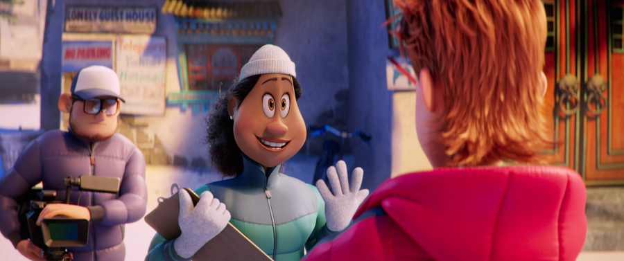 "(Center L-R) Brenda voiced by YARA SHAHIDI and Percy voiced by JAMES CORDEN in the new animated adventure ""SMALLFOOT,"" from Warner Bros. Pictures and Warner Animation Group. Courtesy of Warner Bros. Pictures"