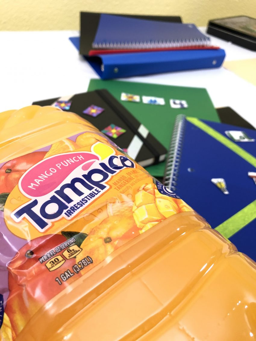 Lessons in Self-Expression: Create Something Colorful - Tampico Juice with School Supplies