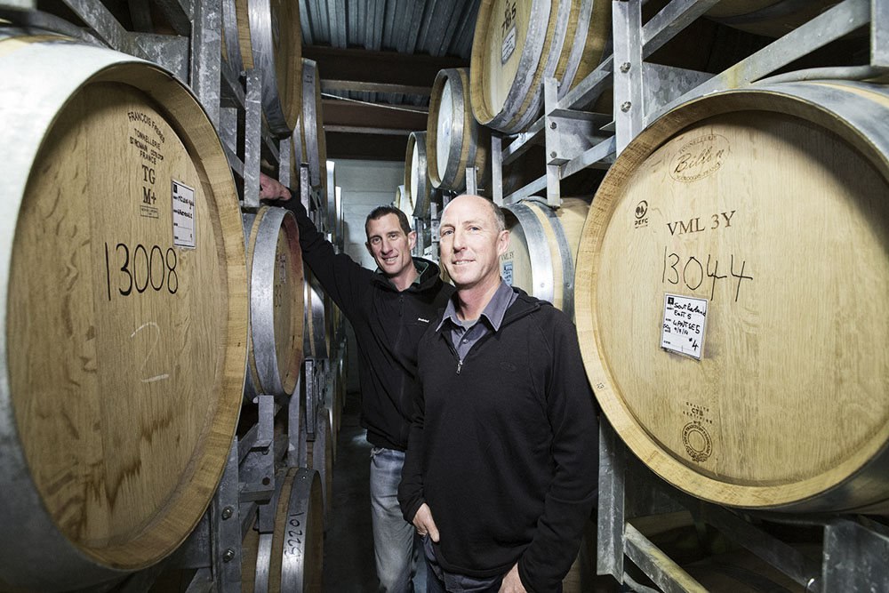 Te Kairanga Martinborough viticulturist Dave Shepherd and chief winemaker John Kavanagh