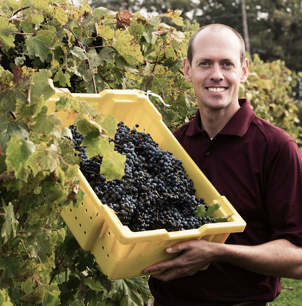 Hybrid wines University of Minnesota grape breeder Matt Clark