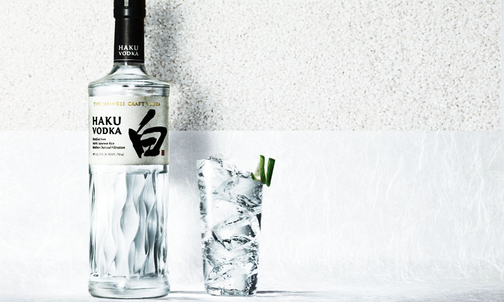Haku vodka bottle