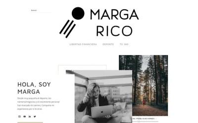 Abrimos la web de Marga Rico