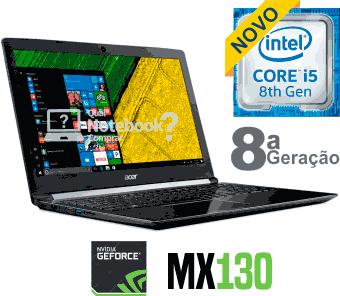 Notebook Acer Aspire A515-51G-C97B core i5 com 8ª geracao
