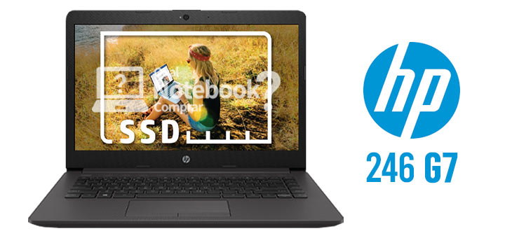 Notebook HP 246 G7 com SSD