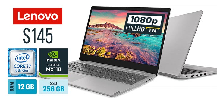 Lenovo IdeaPad S145 81S90000BR capa Intel Core i7 RAM 12 GB SSD 256 GB Full HD GeForce MX110