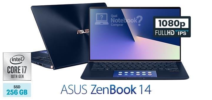ASUS ZenBook 14 UX434FAC-A6340T capa Core Intel i7 decima geracao 256 GB SSD Full HD IPS ScreenPad