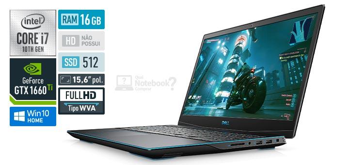 Dell G Series 15 G3-3500-M30P Core i7 10th RAM 16 GB SSD 512 GB GeForce GTX 1660 Ti Full HD WVA Windows