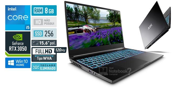 Avell MOB A52 300896 Intel Core i5 11th RAM 8 GB SSD 256 GB Nvidia GeForce RTX 3050 Full HD WVA 120 Hz