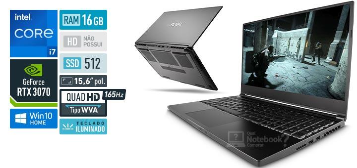 Avell MOB A65 300933 Intel Core i7 11th RAM 16 GB SSD 512 GB Nvidia GeForce RTX 3070 Quad HD WVA 165 Hz