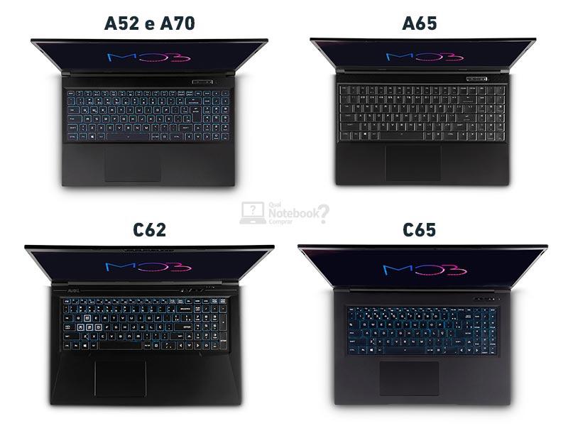 Avell MOB teclado ABNT2 retroiluminado RGB 15 ou 17 polegadas A52 A65 A70 C62 C65