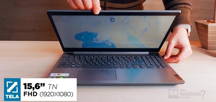 Lenovo IdeaPad 3i tela Full HD TN distorcao de cores
