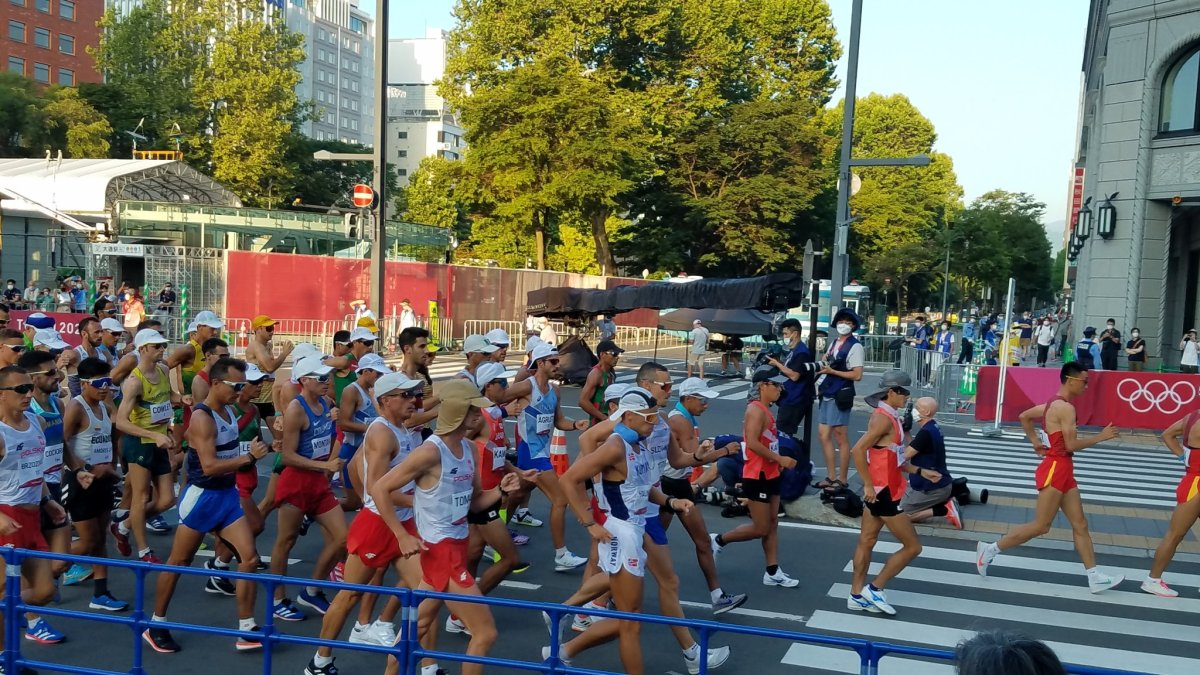 equipo de marcha juegos olímpicos