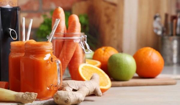 jugo naranja con zanahoria y jengibre
