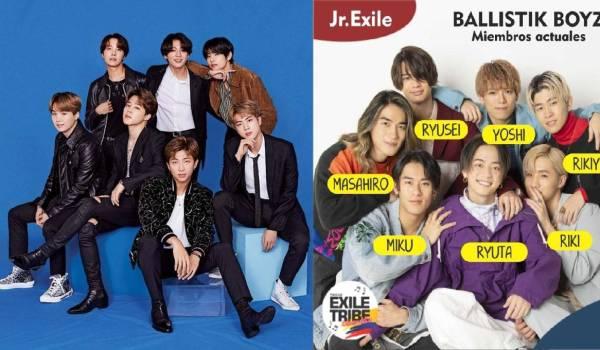 K-pop BTS J-pop Exile Tribe